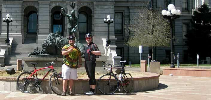 Riding from Parker to Denver in Colorado